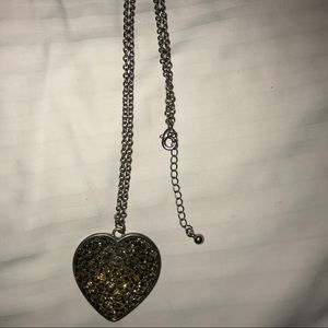 long gold heart necklace